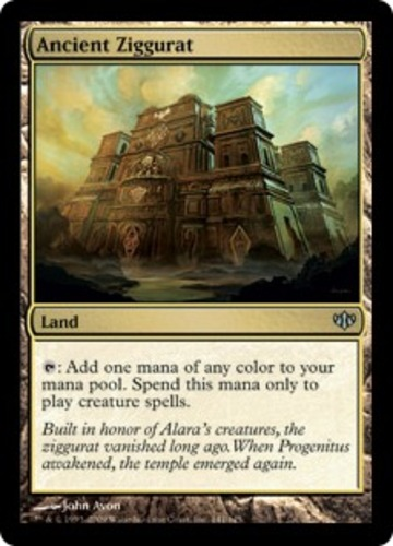 1x - Ancient Ziggurat NM, English MTG Conflux