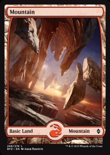 - Foil 268 Full Art ~ Battle for Zendikar BFZ ~ MTG Magic 1 x SP Mountain
