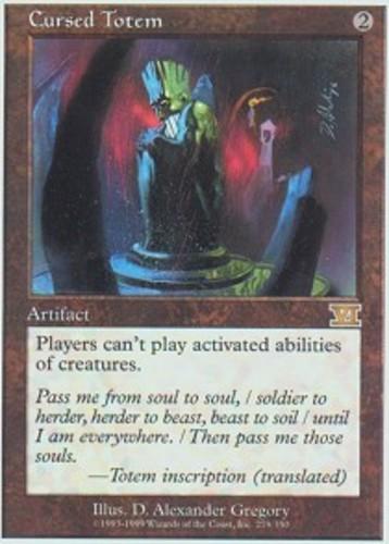 Artifact Mirage Mtg Magic Rare 1x x1 1 PLAYED Cursed Totem