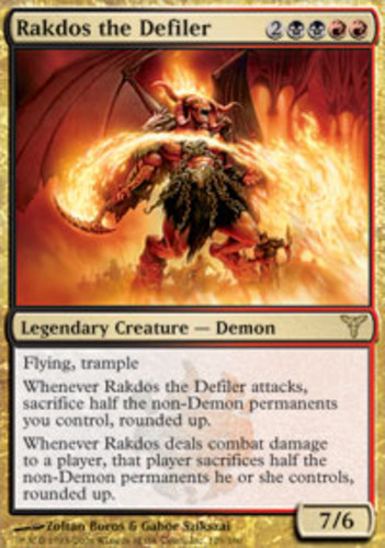 English Dissension MTG Magic 1x Rakdos the Defiler Light Play Sammeln & Seltenes