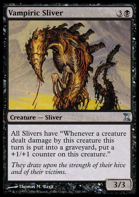 4 Vampiric Sliver ~ Near Mint Time Spiral 4x x4 Playset MTG Magic Black Card Ult Verzamelingen