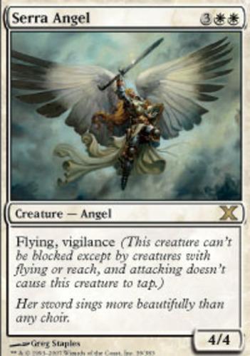 Magic the Gathering ~ 1x Serra Angel ~ 4th Edition ~ M//NM