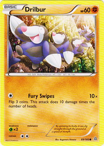 Drilbur 89//160 Primal Clash Reverse Holo Mint Pokemon Card
