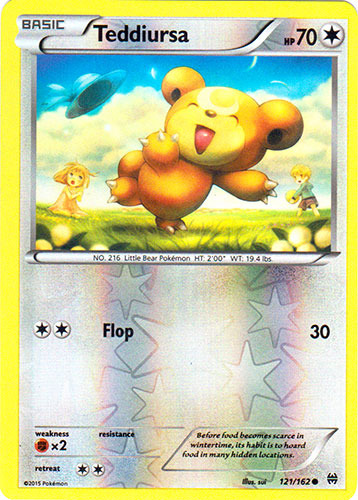 Verzamelingen kaartspellen Teddiursa 121/162 BREAKthrough Reverse Holo Mint Pokemon Card