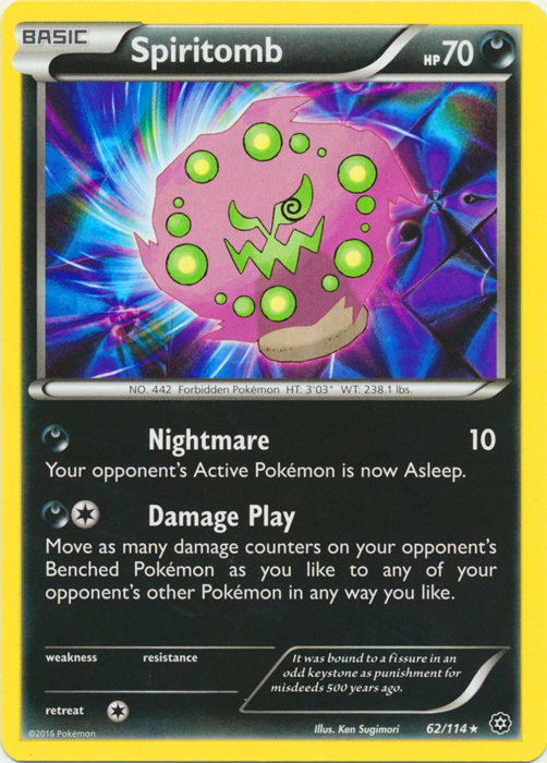 x4 Spiritomb 62//114 Rare Pokemon XY Steam Siege M//NM English