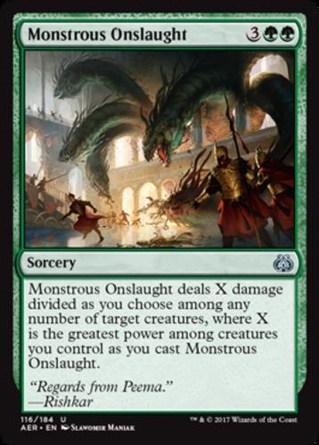 English x4 Monstrous Onslaught MTG Aether Revolt U M//NM