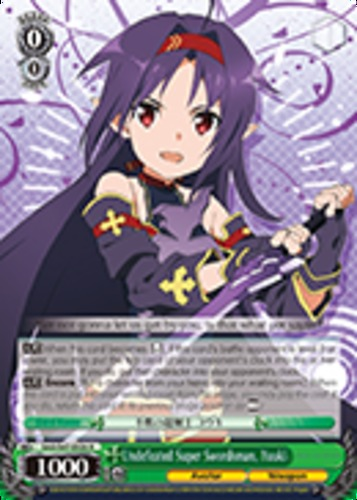 Yuuki R 1x Near Mint Weiss Schwarz SAO//S47-E026 Undefeated Super Swordsman