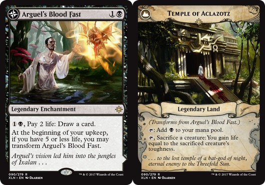 Arguel S Blood Fast Temple Of Aclazotz Nm Mint English Ixalan