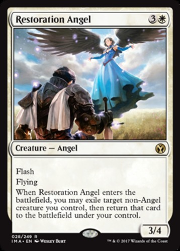 1x Restoration Angel English -BFG- MTG Magic x1 Iconic Masters Near Mint