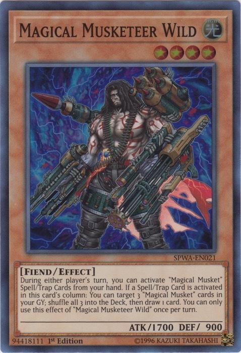 1st Edition SPWA-EN021 - Super Rare Magical Musketeer Wild