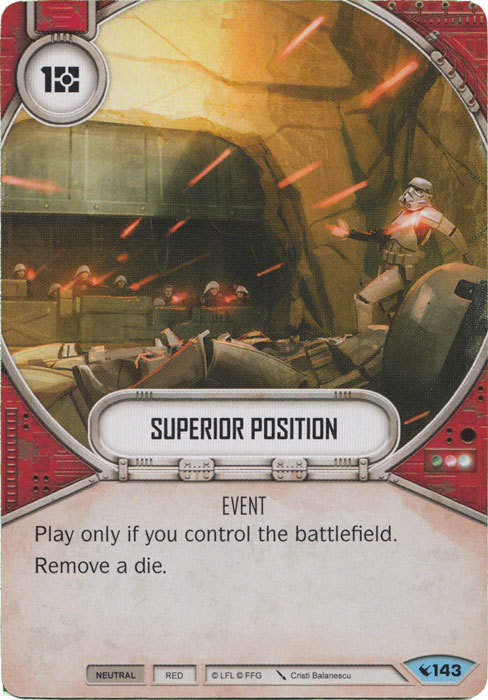 x2 Superior Position 143 Common Star Wars Destiny Legacies M//NM
