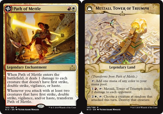 Tower of Triumph MTG Rivals of Ixalan R M//NM Engl x1 Path of Mettle //// Metzali