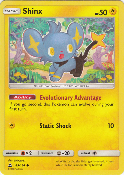 x4 Shinx 46//156 Common Pokemon SM5 Ultra Prism M//NM English