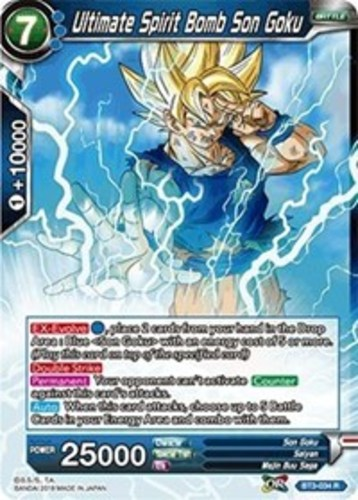BT3-034 1 Ultimate Spirit Bomb Son Goku R Near Mint