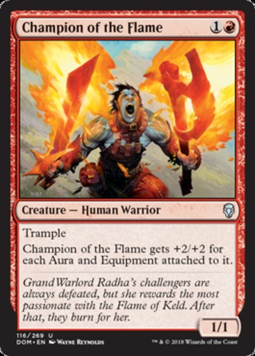 foil MTG Dominaria Champion of the Flame