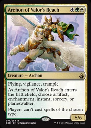 1x Archon of Valor/'s Reach NM-Mint English Battlebond MTG Magic