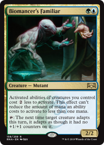 English Ravnica Allegiance MTG Magic 4x Biomancer's Familiar NM-Mint Losse kaarten kaartspellen