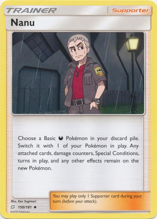 x4 Pokemon Nanu - 150/181 - Uncommon NM-Mint Team Up