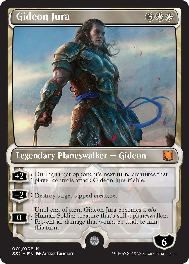 Gideon Jura Near Mint Normal English Magic Card Signature Spellbook Gideon MTG