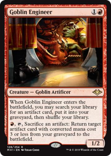 1x Goblin Engineer MTG Modern Horizons NM Magic Regular