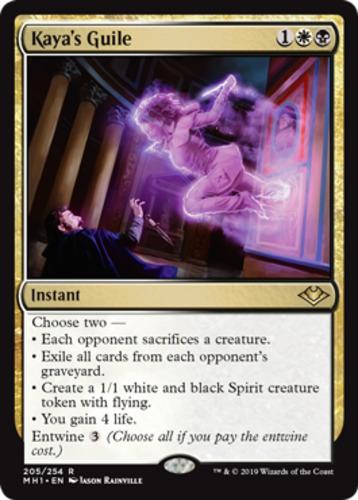 Magic the Gathering MTG Modern Horizons Kaya/'s Guile 205//254