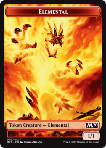 8x Elemental Token Core Set 2020 M20 MTG Magic The Gathering NM 007//012