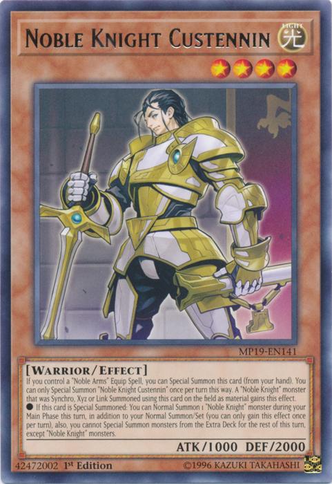 x3 Noble Knight Custennin MP19-EN141 Rare ul