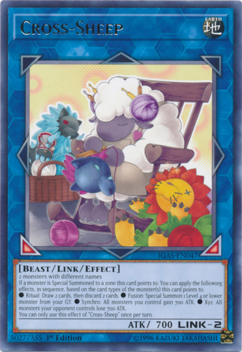 Free Shipping /& Tracked NM IGAS-EN047-1st Edition Yu-Gi-Oh Cross-Sheep