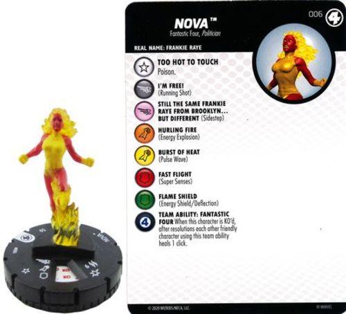 #006 Nova x2 HEROCLIX FANTASTIC FOUR C|