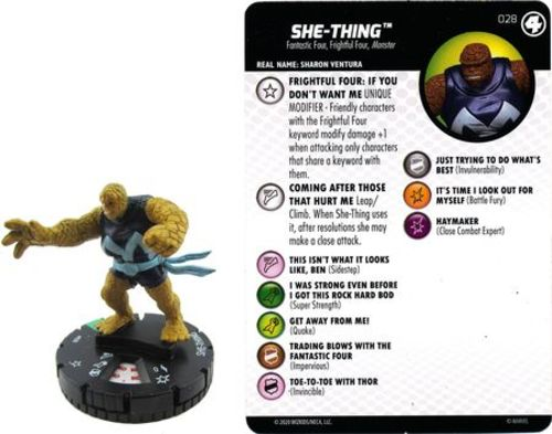 Valeria Richards #027 Uncommon M//NM with Card Marvel Fantastic Four HeroClix
