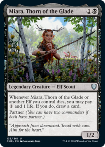 Miara Commander Legends CMR mtg NM//M! Thorn of the Glade ETCHED FOIL x 1