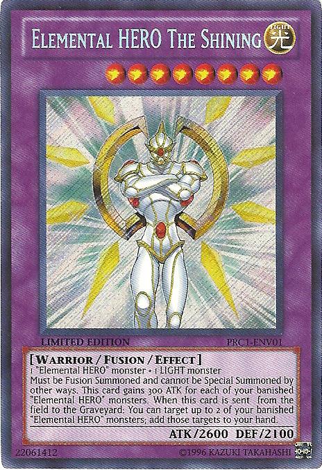 1x Secret Rare Elemental Hero The Shining PRC1-ENV01