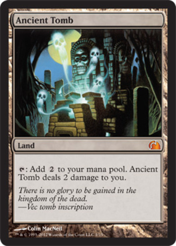1x Foil NM Ancient Tomb English MTG From The Vault