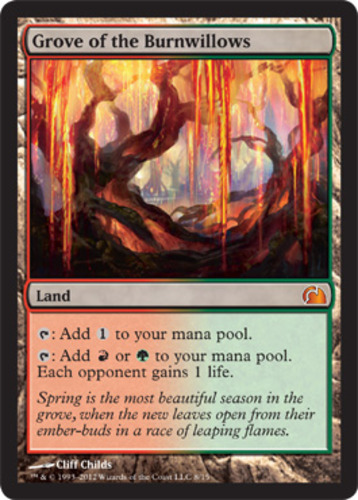 MTG NM-Mint 1x Foil Grove of the Burnwillows From the Vault: Realms